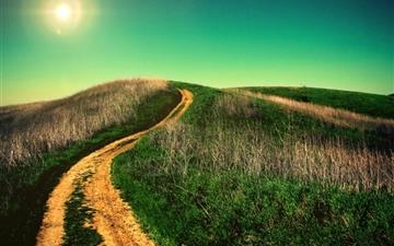 Winding country road Mac wallpaper