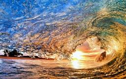 Colorful wave Mac wallpaper