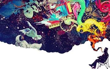Color smoke fantasy Mac wallpaper