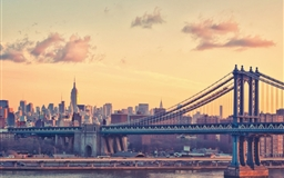 Manhattan Bridge at Dusk New York United States