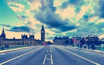London Big Ben Road United Kingdom Mac wallpaper