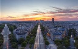 Sunset Paris France