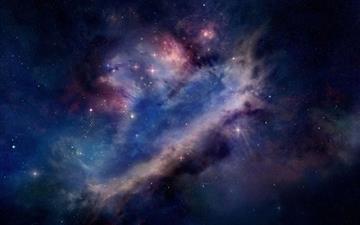 Space Dark Universe Mac wallpaper