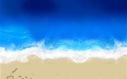 Love in beach Mac wallpaper