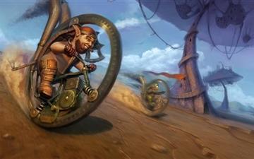 Crazy Wheel Race Mac wallpaper