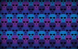 Pattern skulls Mac wallpaper