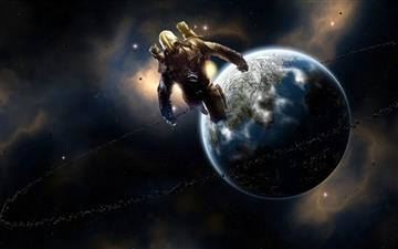 Spaceman Art Mac wallpaper