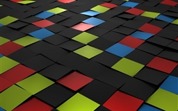 Tiles 3d Mac wallpaper