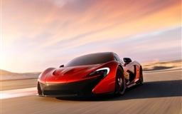 Red Mclaren P1 Mac wallpaper
