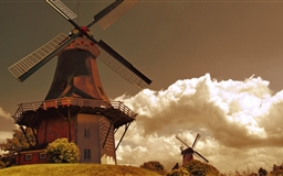 Windmills In The Netherlands Mac wallpaper