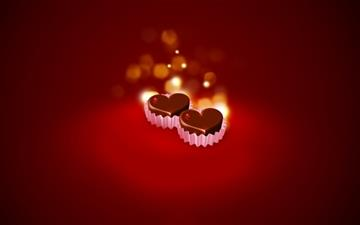 Chocolate Hearts Mac wallpaper
