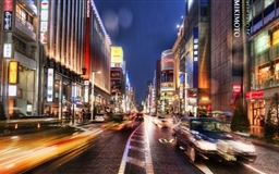 Tokyo Street At Night Hdr Mac wallpaper