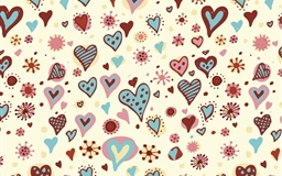 Valentines Day Hearts Textures Mac wallpaper