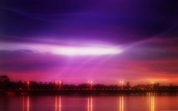 River Twilight Mac wallpaper
