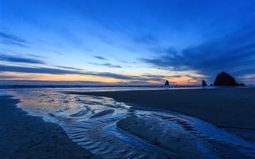 Sunset Oregon Beach Mac wallpaper