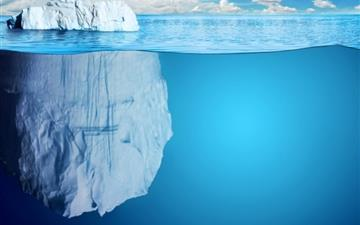 Beautiful iceberg Mac wallpaper