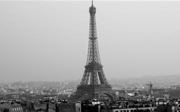 Tower Eiffel Black And White  Mac wallpaper