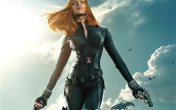 Black Widow In Captain America The Winter Soldier Mac wallpaper