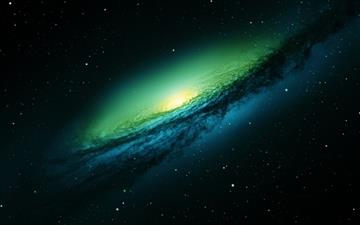 Spiral Galaxy World Mac wallpaper