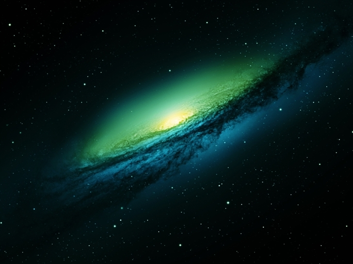 Spiral Galaxy World Mac Wallpaper