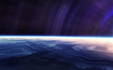 Light Stars Planet Mac wallpaper
