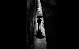 A Rainy Night Walk