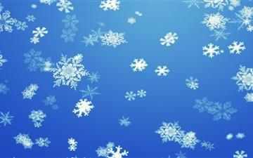 Snowflakes Mac wallpaper