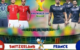Switzerland Vs France 2014 World Cup Group E Football Match Mac wallpaper