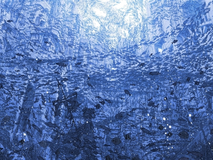 Underwater City Full Of Fish Mac Wallpaper