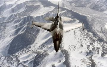 General Dynamics F16c Fighting Falcon Mac wallpaper