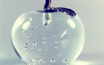 Glass Apple Mac wallpaper