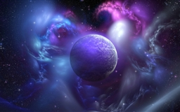 Nebula And Planet Mac wallpaper