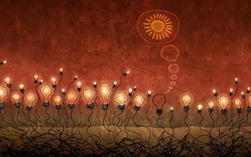 The lamp bulbs Mac wallpaper
