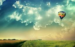 Fire balloon Mac wallpaper