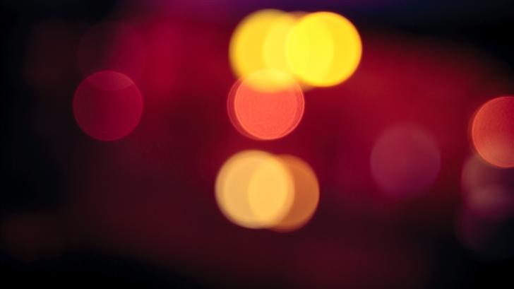 Blurred Car Lights Mac Wallpaper