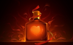 The bottle of heart Mac wallpaper