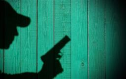 A person's shadow Mac wallpaper