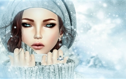 Snow beauty Mac wallpaper