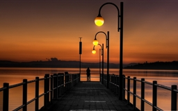 Pier Sunset 2 Mac wallpaper