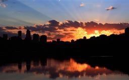 Sunset glow Mac wallpaper
