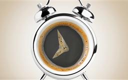 Coffee or clock Mac wallpaper