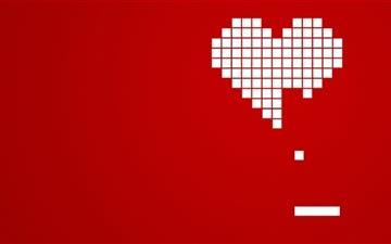 Incomplete heart Mac wallpaper