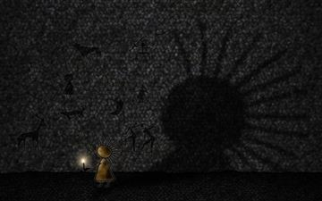 The shadow Mac wallpaper