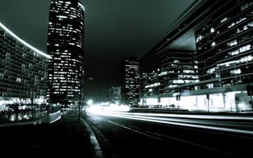 The city's night Mac wallpaper