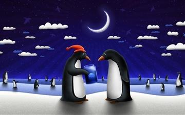 The penguin's love Mac wallpaper