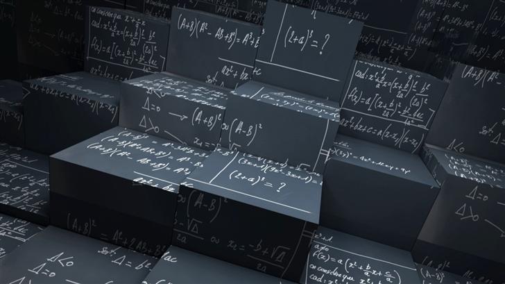 Math Blackboard Wallpaper