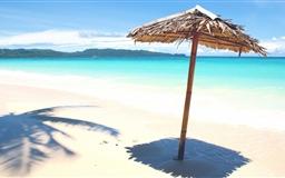 Sandy beach Mac wallpaper