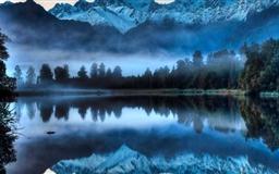 Foggy Lake Mac wallpaper