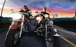 The march-past of the motorcycle guards  Mac wallpaper
