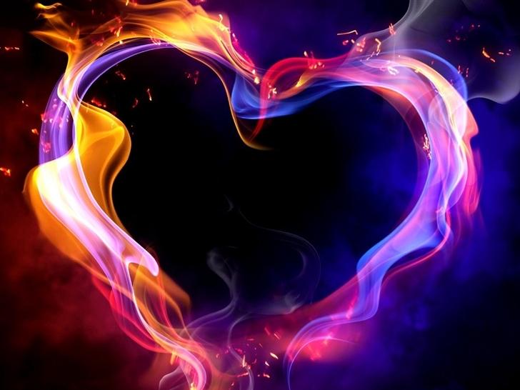 Fire Heart Mac Wallpaper